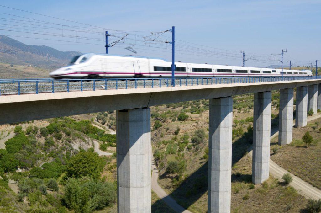high-speed train in spain