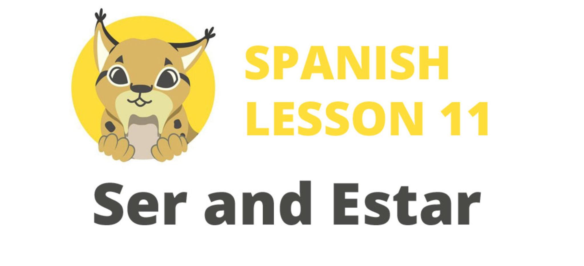 Spanish verbs Ser and Estar