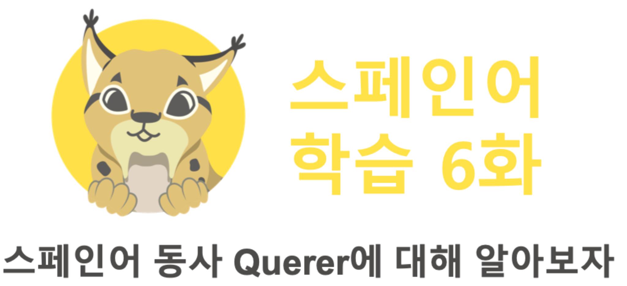 스페인어 동사 Querer에 대해 알아보자
