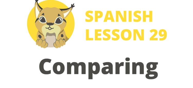 comparing in spanish