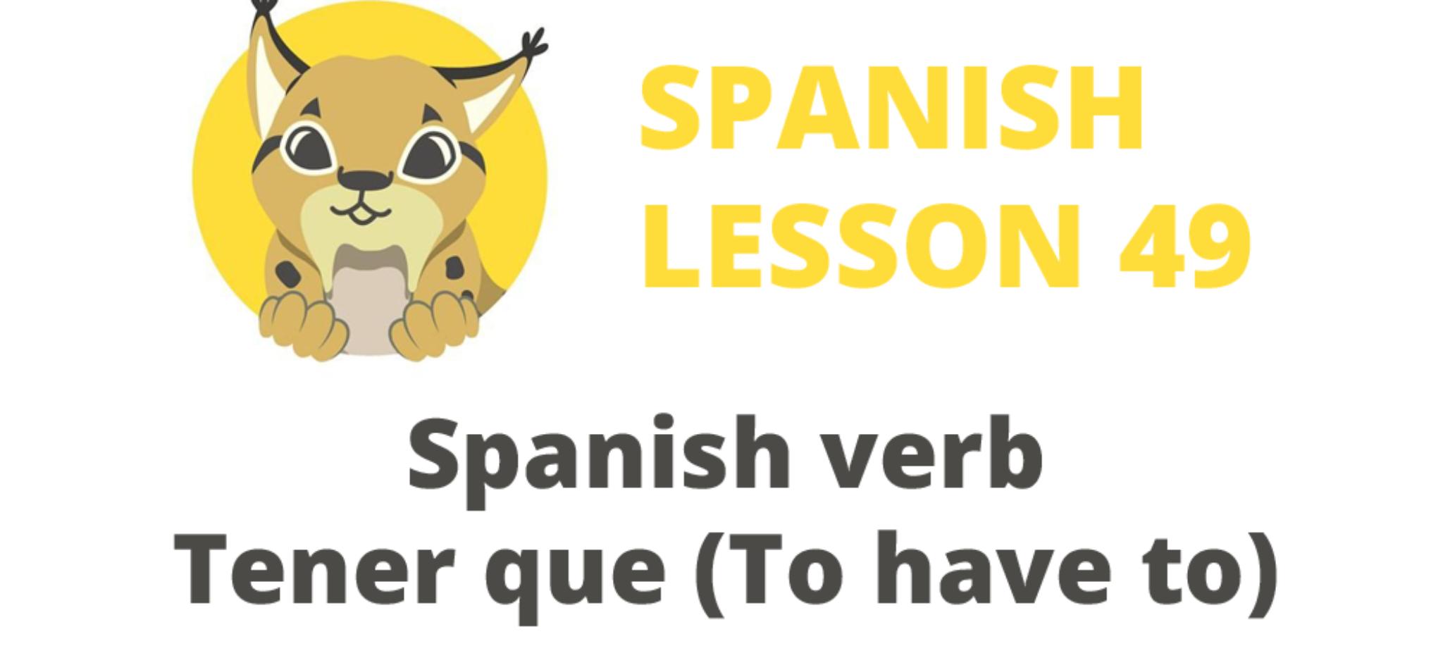 spanish verb tener que