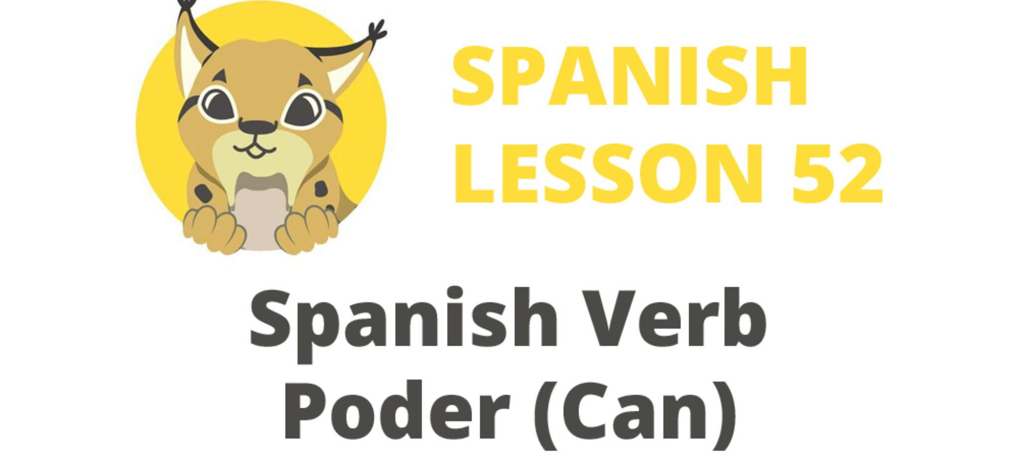 spanish verb poder